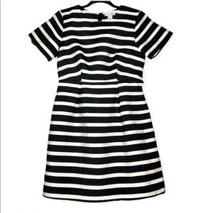 H&M Dress Short Sleeve Black and White Striped NWT